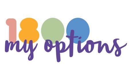 1800 My Options logo